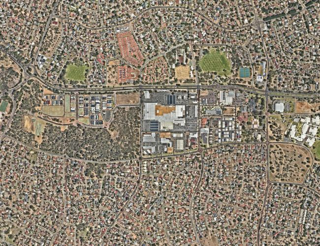 Aerial map of Kwinana town centre.