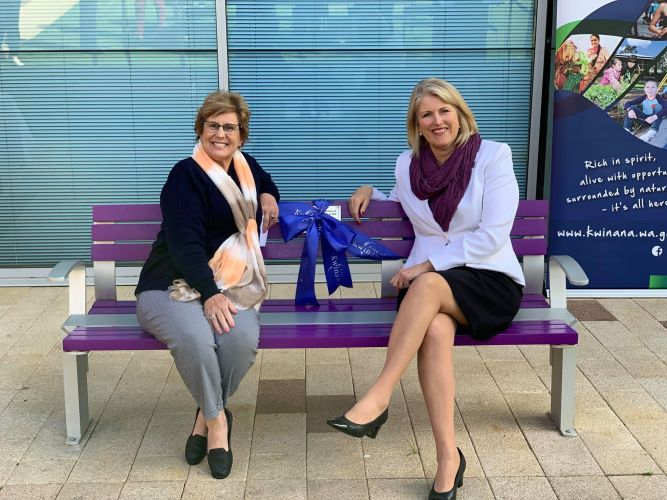 Kwinana Mayor Carol Adams and Women's Council Chair for Domestic and Family Violence Services (WA) Anne Moore.
