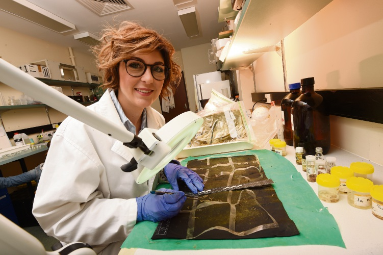 d493250 Murdoch University forensic scientist Paola Magni. Picture: Jon Hewson