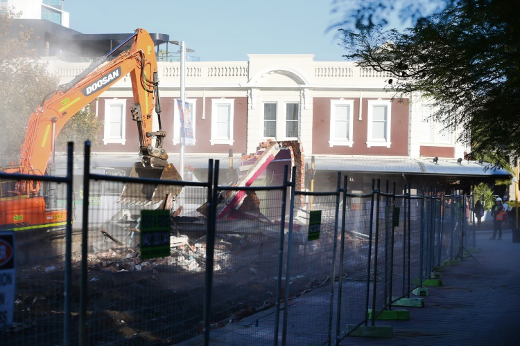 The former Subiaco Pavilion Market site. All photos: Andrew Ritchie.