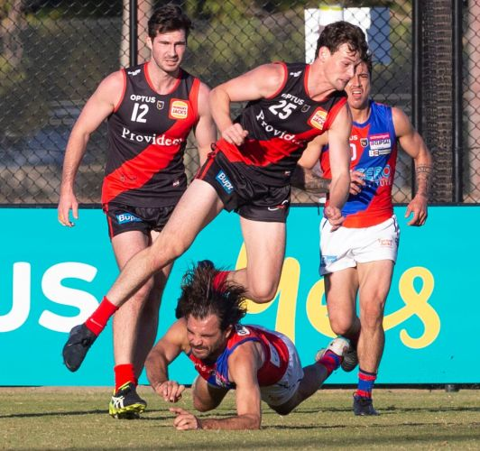 West Perth captain Aaron Black leads from the front against Perth. Picture: Dan White