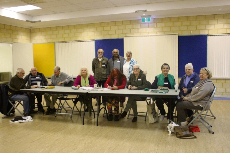 Attendees to the Beeliar Seniors Social Club.