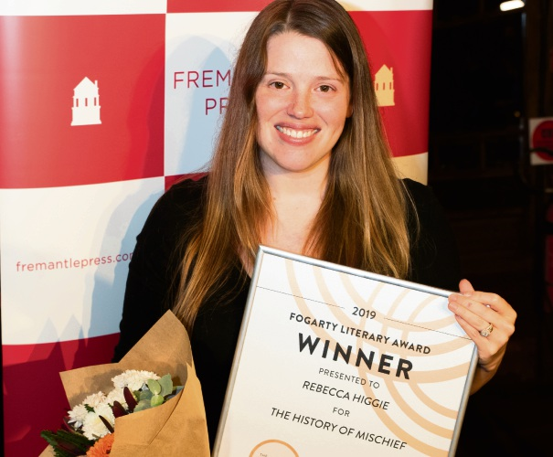 Rebecca Higgie wins Fogarty Literary Award with The History of Mischief