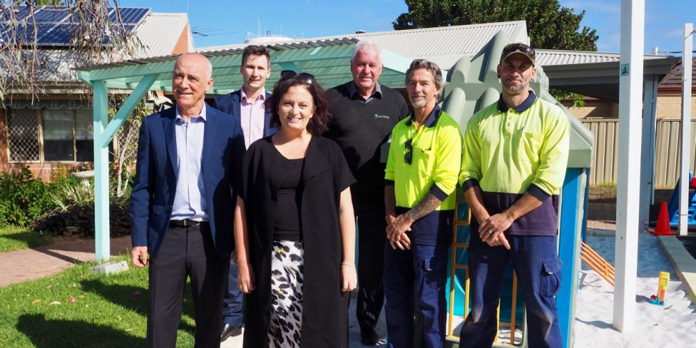 Tony Aria from Tamala Park Regional Council, Carl Buckly Satterley, Kirsten Shearn from the Patricia Giles Centre, Michael Gottschalk, Mark Wilson and Ray Skeet from LD Total.