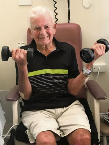 Danny Watkins (90) of Nollamara joined Black Swan Health's Strength to Strength program after a back injury.