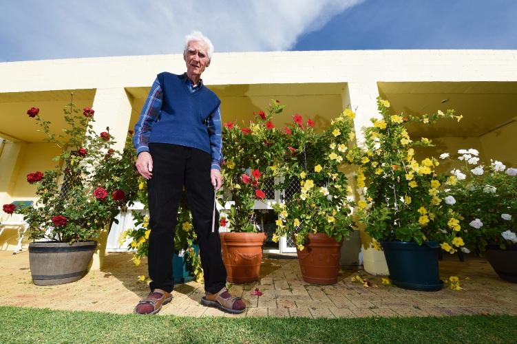 Bosko Borkovic with his garden. Photo: Jon Hewson. d493181 communitypix.com.au