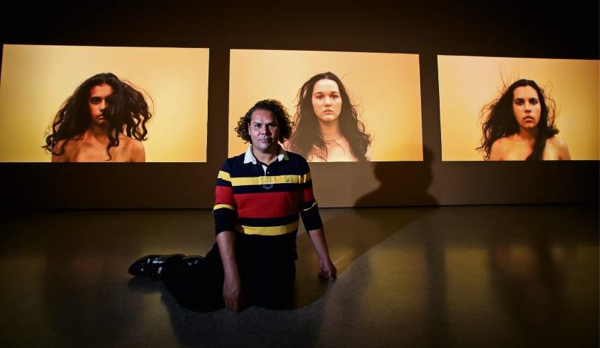 Christian Thompson Ritual Intimacy at the John Curtin Gallery. Picture: David Baylis. d493247