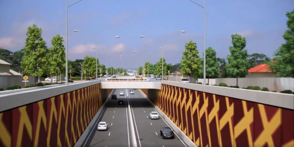 What the Orrong Road Expressway could look like.