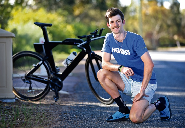 Cyclist Matt Smith of The Vines with his Trek Speed Concept bicycle. Photo: David Baylis