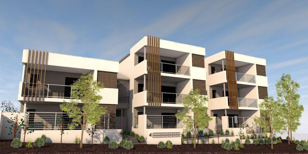 An artist impression of the proposed 13-apartment development across 4 and 6 Brechin Court, Duncraig.