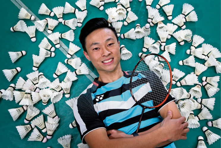 Daniel Fan of Karawara is expecting tough but exciting competition at badminton's 2019 Australian Open. Picture: David Baylis www.communitypix.com.au   d493529
