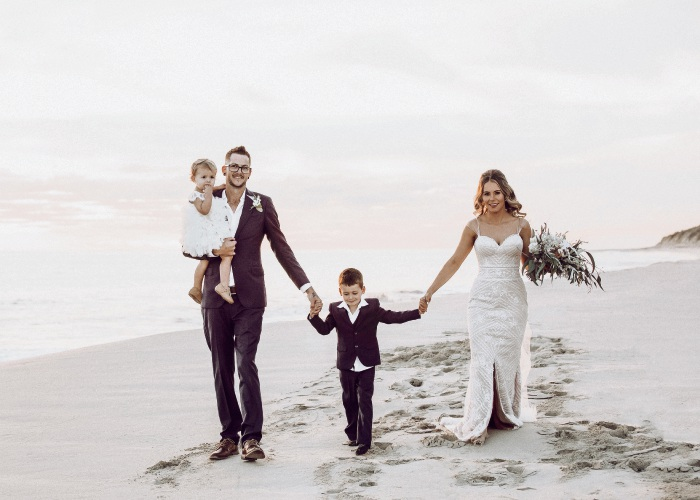 Andy and Laura MacDowel with their children Eden and Jackson. Pictures: Carly Sinden Photography