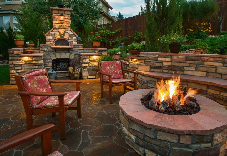Enjoy a glorious fire pit in winter.