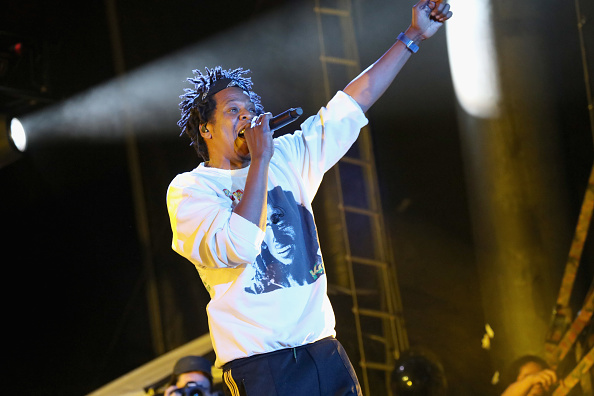 Jay-Z performs onstage. Picture: Brian Ach/Getty
