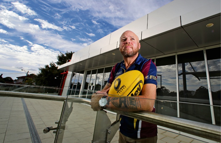 Manning Rippers Amateur Football Club president Craig Mulder at the Manning Community Hub Sports Rooms at James Miller Oval. Picture: David Baylis