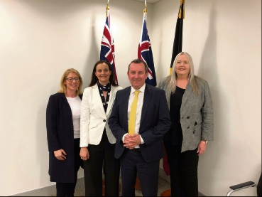 493797pa Planning Minister Rita Saffioti, Mayor Penny Taylor, Permier Mark McGowan and CEO Rochelle Lavery.