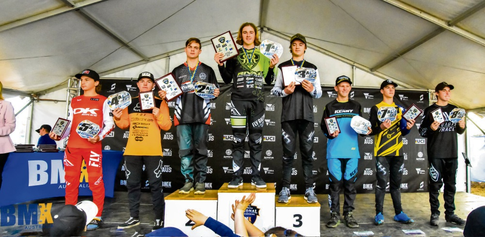 Jordan Callum at the podium. Photo by Mel Faull.