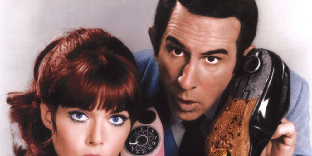 Barbara with Don Adams who played Maxwell Smart. Picture: submitted.