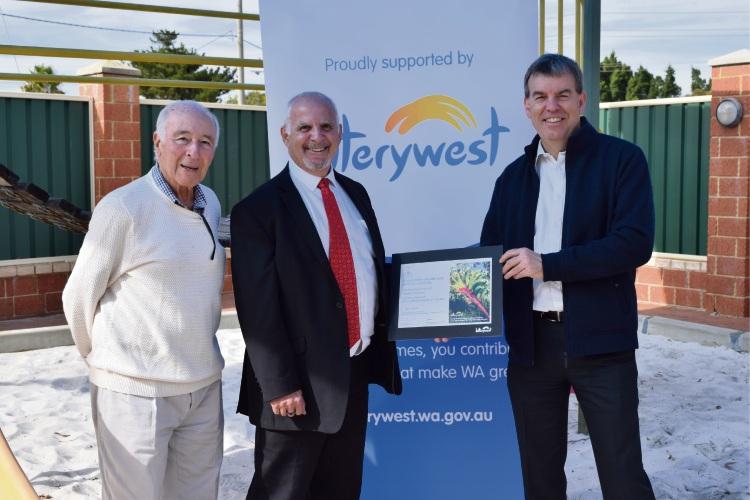 Maltese Association of WA club patron Tony Zammit, president Stephen Cauchi and Bassendean MLA Dave Kelly.