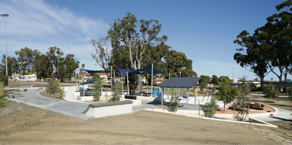 The newly built playground at Robinson Reserve in Tuart Hill. Photo: Martin Kennealey d493595