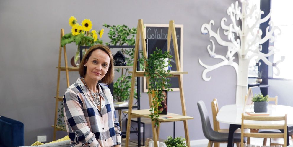 Rebecca Mason photographed at a Butler education business she opened last year. Picture: Martin Kenealey