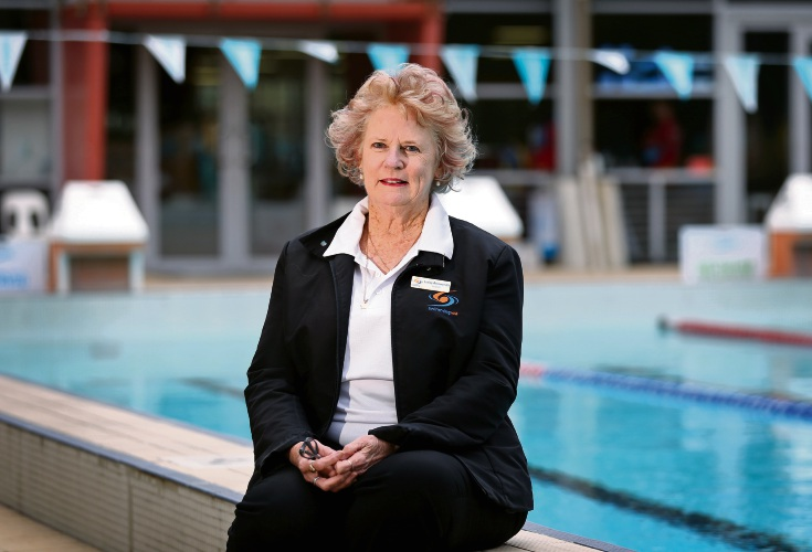 Lesley Arrowsmith of Shelley will be recognised as a Member of the Order of Australia as part of the Queen's Birthday Honours for her service to swimming. Picture: David Baylis. d493781