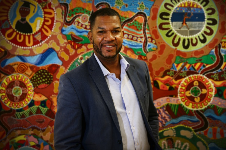 Ricky Grace received an AM in the Queen's Birthday honours for significant service to the indigenous community of WA. Picture: Andrew Ritchie www.communitypix.com.au   d493753