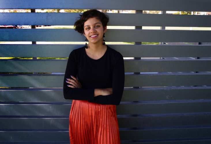 Natasha Gill has won a Westpac Young Technologists Scholarship. Picture: Martin Kennealey d492909