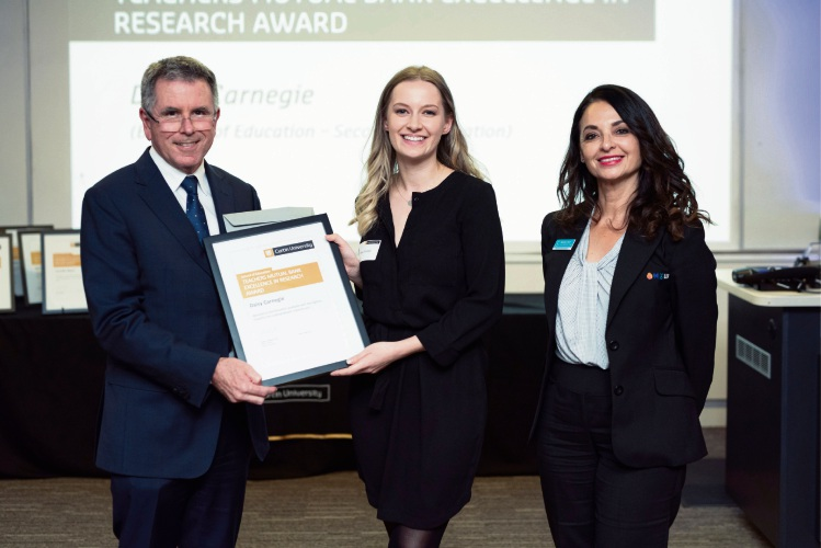 Curtin University student wins Excellence in Research Award