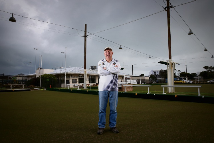 Keith Bowden (President Fremantle Bowling Club) awarded WA volunteer of the year for Bowling Club WA. Photo: Andrew Ritchie. d493889 communitypix.com.au.