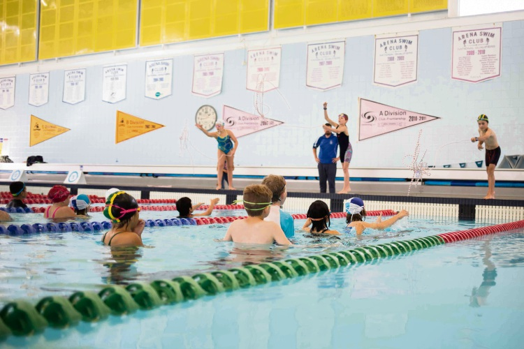 Young Perth swimmers show lifesaving skills