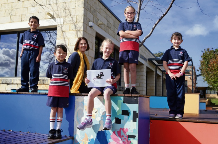 Teacher Sandra Corcoran with Year 2 students Arnav, Sofia, Bronte, Charlottte and Amelie. Picture: Martin Kennealey d493855