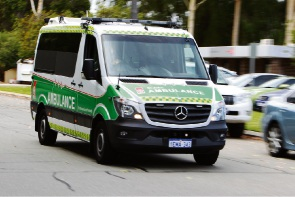 The teenager was treated at the scene by paramedics and transported to Perth Children's Hospital.