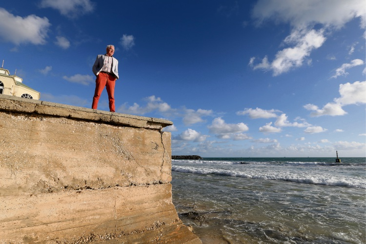 Consultant Garry Baverstock warns of erosion caused by sea rises taking away Cottesloe Beach in the future. Picture: Andrew Ritchie www.communitypix.com.au   d493954