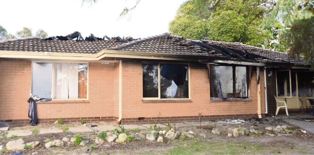 Arson squad investigating house fire