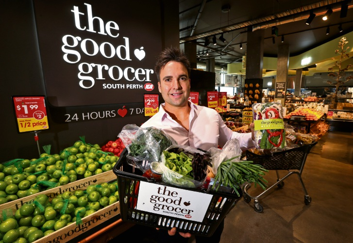 Steven Sevastos won $10,000 to spend at The Good Grocer IGA. Picture: David Baylis