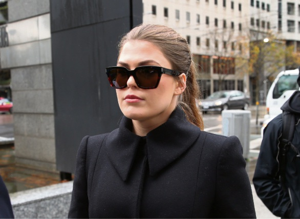 Belle Gibson arrives at the Federal Court in Melbourne. Picture: AAP Image/David Crosling