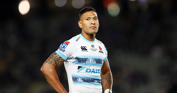 Israel Folau. Picture: Anthony Au-Yeung/Getty Images