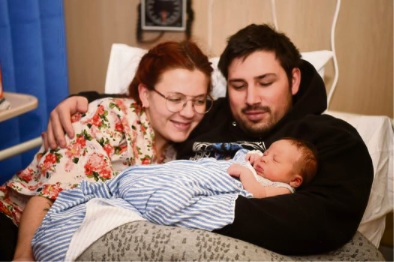 Reilly and Hannah Camarda, of Rockingham, with Finn, born June 17. Picture: Jon Hewson www.communitypix.com.au   d489953
