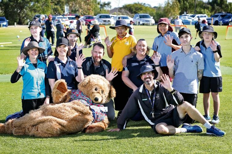 Participants at the inclusive sports carnival. Photo: David Baylis. d493579 communitypix.com.au.