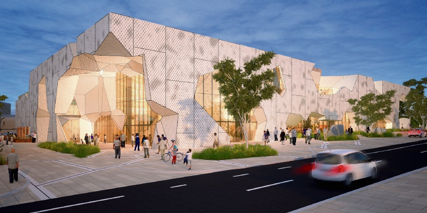 An artist impression of the new design concept for the Joondalup performing arts centre.