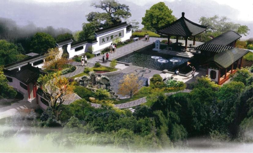 A concept plan for the Jinan Garden.