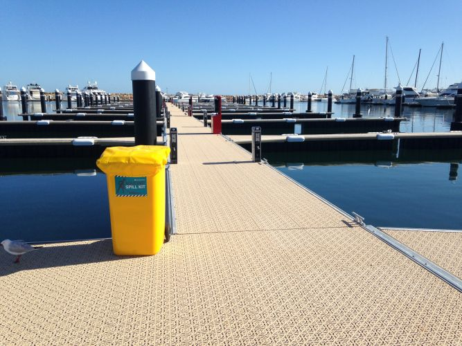 The new jetties at Hillarys Boat Harbour.