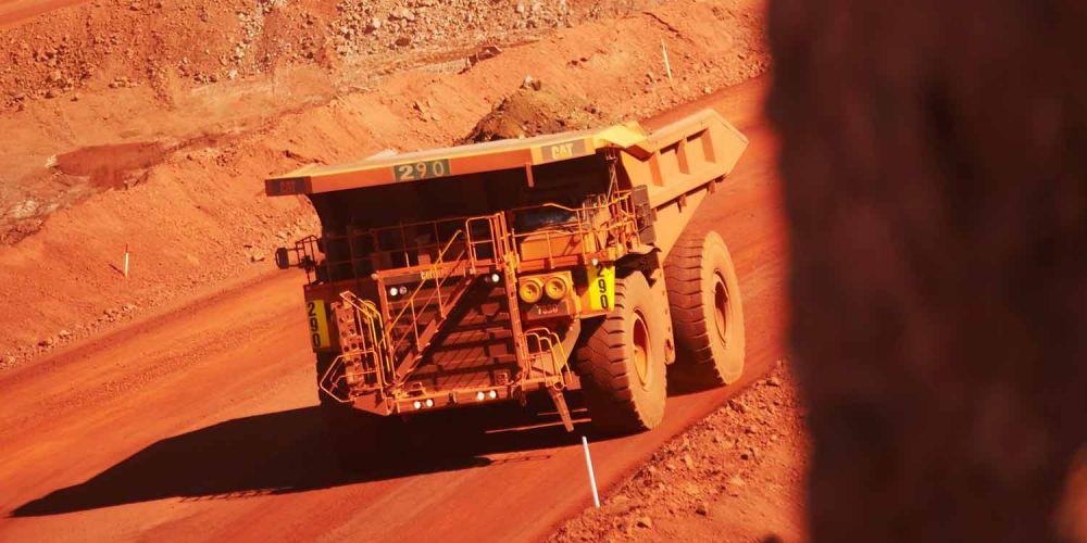 A truck at BHP's Newman iron ore mine in WA.