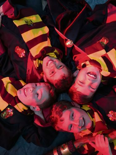 Vogue Performers students Riley Jupp (8), Thomas Cole (10), Joshua Tetlow (8) and Charlie Cole (9). Photo: Rochelle Tetlow