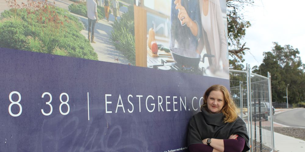 Kingsley MLA Jessica Stojkovski wants to see the East Green development progress.