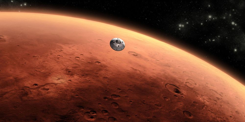 An artist's concept of NASA's Mars Science Laboratory spacecraft approaching Mars. Picture: NASA