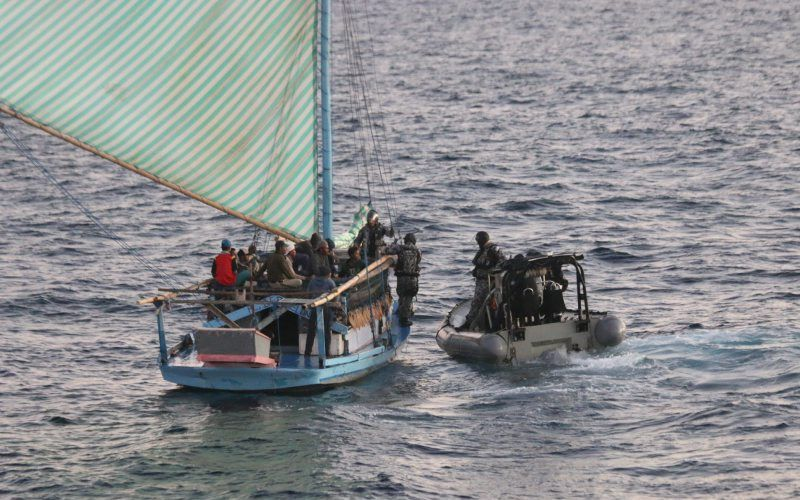 An Indonesian fishing vessel was apprehended off north-west WA. Picture: Supplied