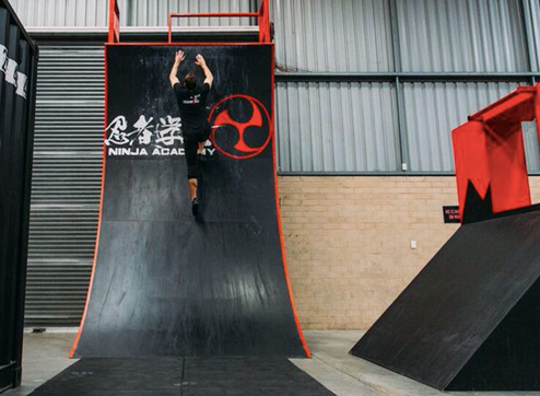 Ninjas can take on the warped wall at Westfield Whitford City.