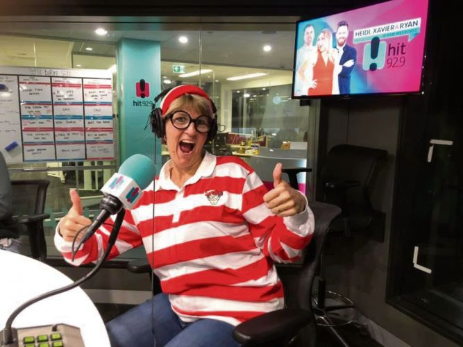 Lisa was Where's Wally at a radio interview.
